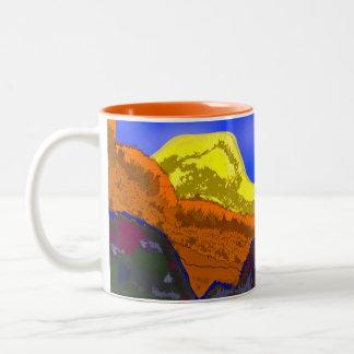 Mug-earth layers Two-Tone coffee mug