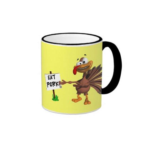 Mug - Eat Pork Thanksgiving Turkey