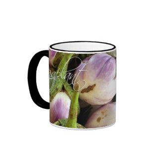 Mug, eggplant ringer mug
