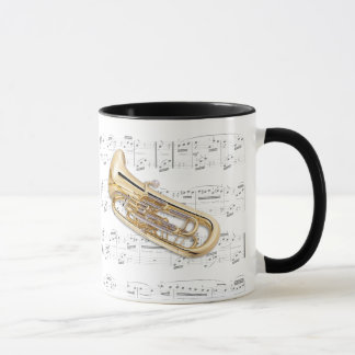 Mug - Euphonium with sheet music