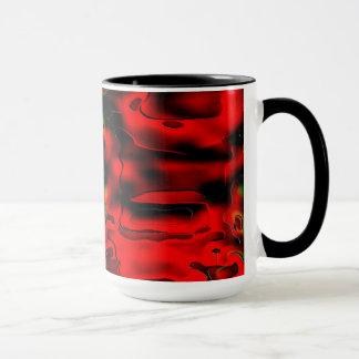 Mug. Fiery Red chasm effect. Mug