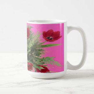 Mug- Flowered Coffee Mug