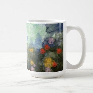 Mug, Flowered Path Watercolor Coffee Mug
