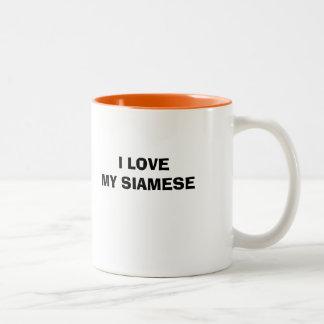 MUG, For Siamese owners Two-Tone Coffee Mug