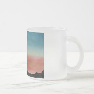 Mug Frosted Glass Soldier Silhouette War