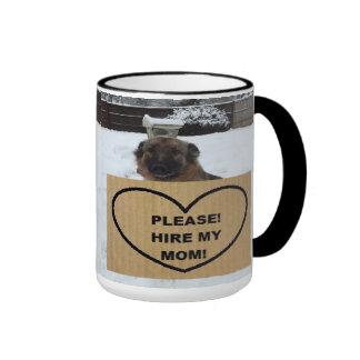 Mug German Shepherd Please Hire My Mom
