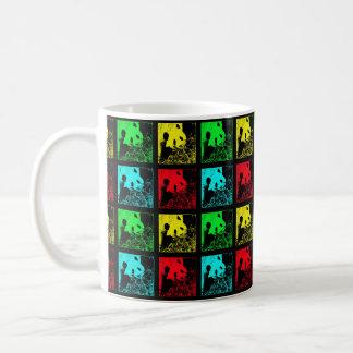Mug, Giant Pandas Pop Art, Red Blue Green Yellow