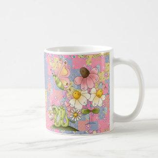 Mug Girls Collage Garden Pink