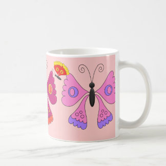 Mug Girls Kid's Colored Butterfly Set