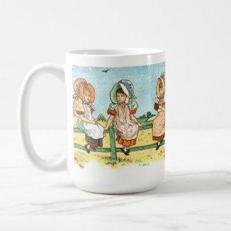 Mug - Girls Sitting on Fence