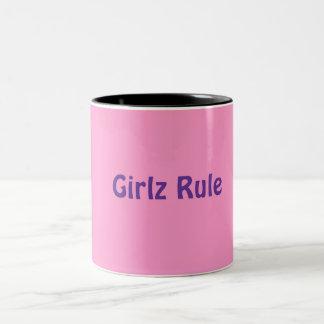 Mug: Girlz Rule Two-Tone Coffee Mug