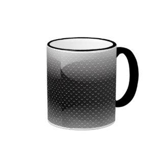 Mug glossy metal grid