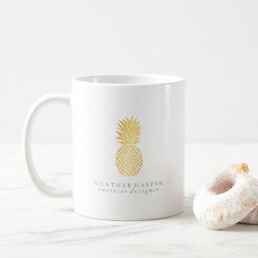 Professional Business Mug - Gold Pineapple