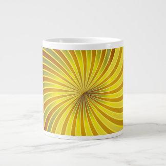 Mug gold spiral vortex 20 oz large ceramic coffee mug