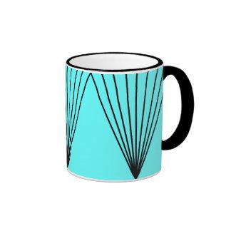Mug graphical turquoise