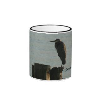 Mug:  Great Blue Heron Ringer Mug