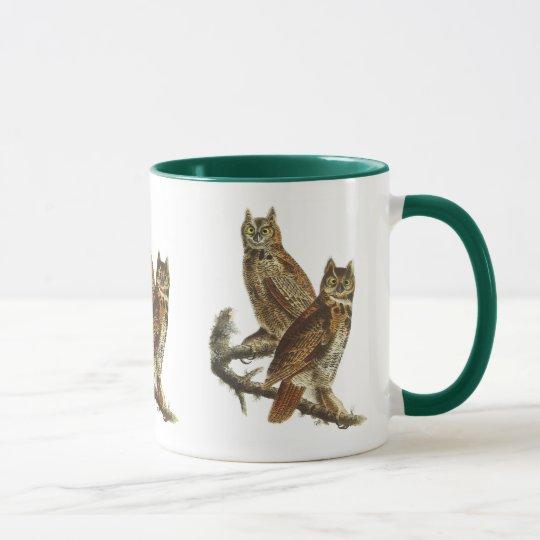 Mug: Great Horned Owl by John James Audubon Mug
