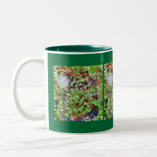 Mug - green abstract