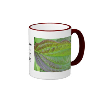 """Mug green brown sheet with text:  have a nice day"""""""