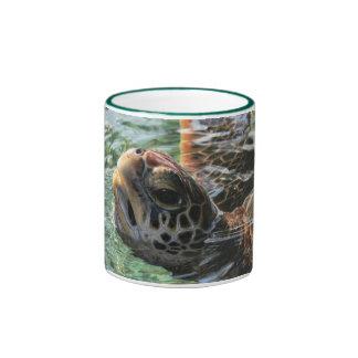 Mug: Green Sea Turtle (Ringer) Ringer Mug
