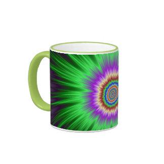 Mug  Green Star Burst