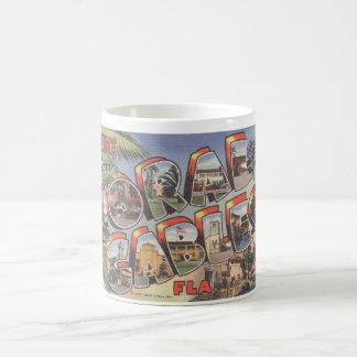 Mug_Greetings from CORAL GABLES FLORIDA_Large Lett Classic White Coffee Mug