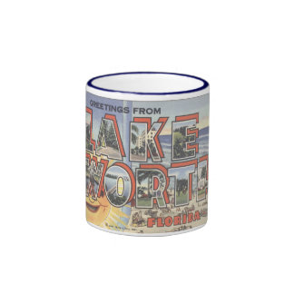 Mug_Greetings from LAKE WORTH FLORIDA_Large Letter Coffee Mug