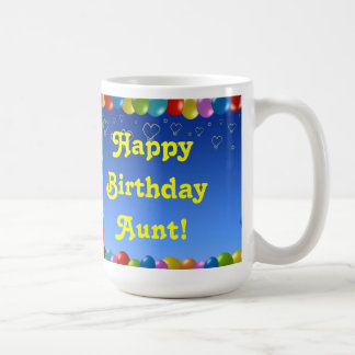 Mug Happy Birthday Aunt