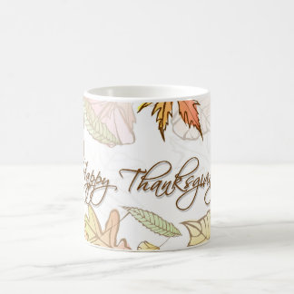 Mug - Happy Thanksgiving Autumn Leaves 2