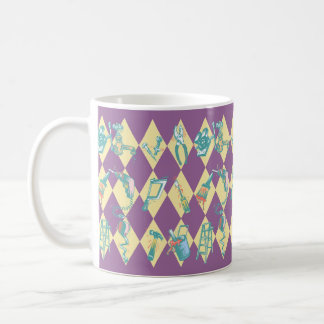 MUG ~ Harlequin pattern To-Do Tools For The Tasks