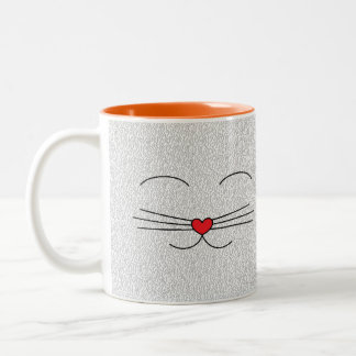 Mug head and tail of cat