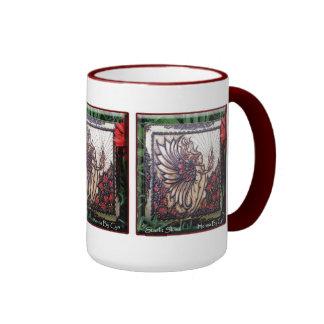 Mug: Henna Fire Fairy by Cynthia McDonald Ringer Mug