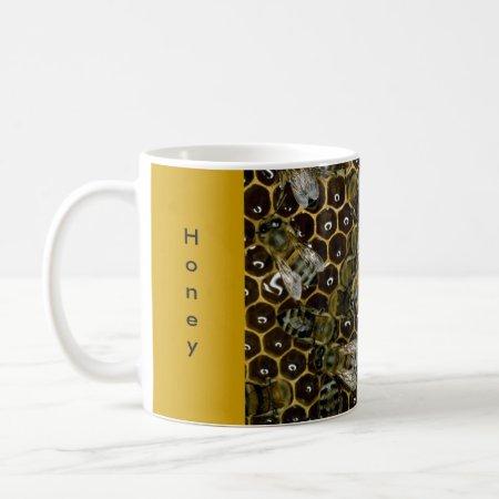 Mug - Honey, Bees, Honeycomb