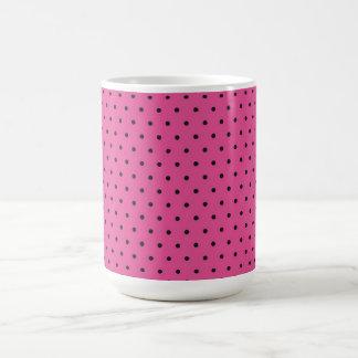 Mug/Hot Pink & Black Polka Dots Coffee Mug