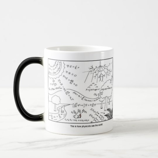 Mug How physicists see the world [RIGHT HANDED]