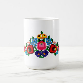 mug, hungarian, embroidery, kalocsai coffee mug