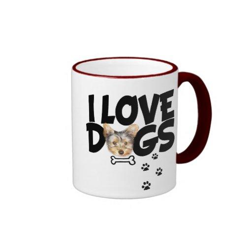 """Mug """"I love dogs"""""""