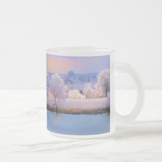 Mug, Icy Pond and Willows in Pastel Colors