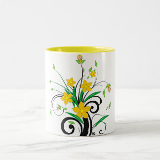 """Mug in two tones """"Flores"""