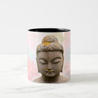 Mug in two tones with image of the Buddha