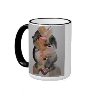 "mug, ""India"", art Ringer Mug"