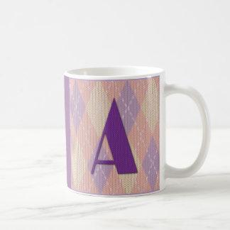 Mug-initial A (two sides) Coffee Mug