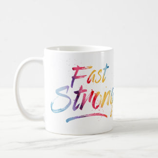Mug Intermittent Fasting Fast Strong Watercolor
