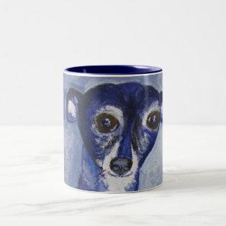 Mug, Italian Greyhound Dog Art Two-Tone Coffee Mug