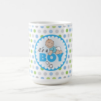 Mug/It's A Boy with Polka Dots Coffee Mug