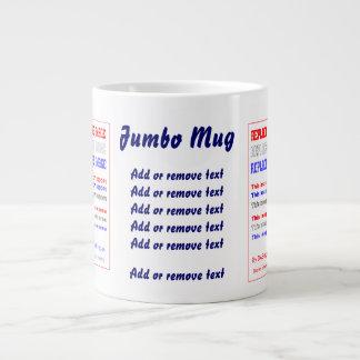 Mug Jumbo 20oz. Pick Left, Right or both