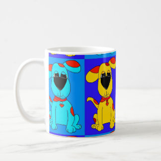 Mug Kid's Boy Dogs Blue Yellow Red