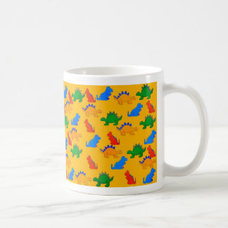 Mug Kid's Boys Dinosaur Collage Yellow