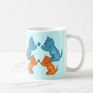 Mug Kid's Cats Kittens Butterfly Blue Orange