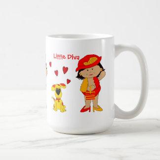 Mug Kid's Girls Little Diva, Matching Dog
